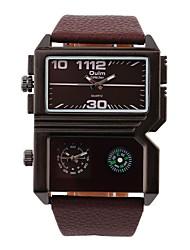 Недорогие -Муж. Наручные часы С двумя часовыми поясами / Повседневные часы Кожа Группа Черный / Коричневый / Нержавеющая сталь / Два года / SOXEY SR626SW