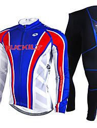 Nuckily Calça com Camisa para Ciclismo Homens Manga Longa Moto Conjuntos de Roupas Prova-de-Água Térmico/Quente A Prova de Vento Á