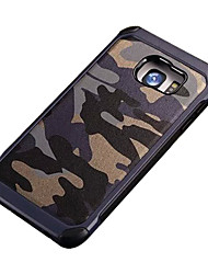 cheap -Case For Samsung Galaxy Samsung Galaxy S7 Edge Shockproof Pattern Back Cover Camouflage Color PC for S7 Active S7 plus S7 edge S7 S6 edge