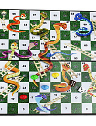 cheap -Educational Portable Folding Magnetic Snakes & Ladders Travel Table Top Desk Board Game