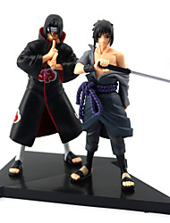 cheap -2PCS Uchiha Sasuke+Uchiha Itachi 16CM PVC Anime Action Figures Doll Toys