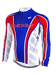 Nuckily Cycling Jacket Men's Long Sleeves Bike Jersey Tops Waterproof Thermal / Warm Windproof Rain-Proof Reflective Strips Velvet