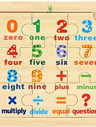 billige -Puslespil Matematiklegetøj Pædagogisk legetøj Legetøj Klassisk Træ Tegneserie Stk. Drenge Gave