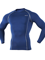 Arsuxeo Cycling Base Layer Men's Long Sleeves Bike Baselayer Jersey Top Thermal / Warm Quick Dry Breathable Soft Lightweight Materials