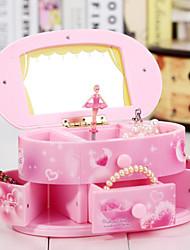 Недорогие -тумба для Elise музыки пластиковый ящик розовый / желтый