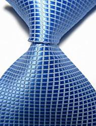 Men's Party/Evening Wedding Checked JACQUARD WOVEN Necktie Necktie