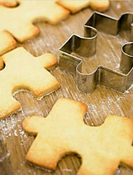 Stainless Steel Puzzle Shape Cookie Cutter Cake Decorating Fondant Cutters Tool Cookies