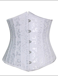 cheap -Women's Lace Up Hook & Eye Underbust Corset-Jacquard