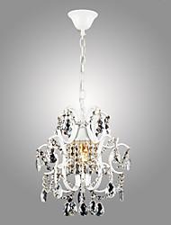 Lámparas Araña ,  Moderno / Contemporáneo Pintura Característica for Cristal Estilo de la vela Metal Sala de estar Dormitorio Cocina