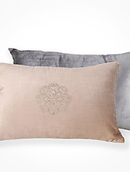 cheap -2 pcs Polyester Pillow Cover, Embellished&Embroidered Accent/Decorative Traditional Modern/Contemporary