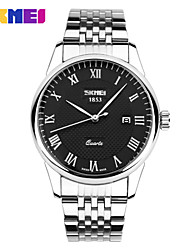Недорогие -Муж. Наручные часы Кварцевый Японский кварц Нержавеющая сталь Серебристый металл 30 m Защита от влаги Аналоговый Aristo Простые часы - Белый Черный Синий