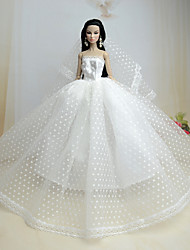 cheap -Wedding Dresses For Barbie Doll Dresses For Girl's Doll Toy