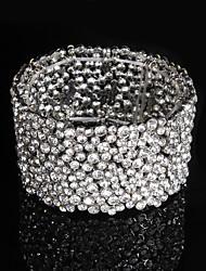 Недорогие -женская цепь / круглые браслеты сплав сплава rhinestone элегантный стиль