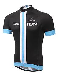 baratos -XINTOWN Homens Manga Curta Camisa para Ciclismo - Preto / Amarelo Moto Camisa / Roupas Para Esporte, Secagem Rápida, Resistente Raios