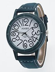 baratos -Homens Relógio de Pulso Relógio Casual / / PU Banda Casual Preta / Verde / Cinza