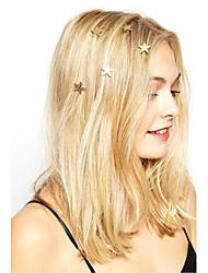 cheap -Women Fashion Casual Stars Pattern Spiral Hairpin Rhinestone Pearl Flowers Spring Hairpin   6 Piece