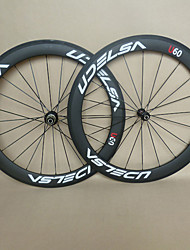 cheap -UDELSA 23mm Wide Carbon Wheels 60mm Tubular Road Racing with R13 Hubs 20/24H