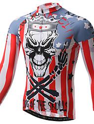 baratos -XINTOWN Homens Manga Longa Camisa para Ciclismo - Branco Moto Camisa/Roupas Para Esporte, Secagem Rápida, Resistente Raios Ultravioleta,