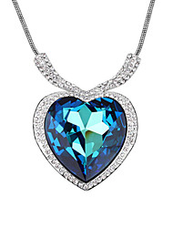 cheap -Crystal Pendant Necklace - Crystal, Cubic Zirconia Heart, Love Fashion, Movie Jewelry Blue Necklace For Wedding, Party, Daily