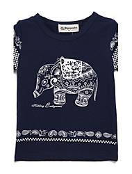 preiswerte -Jungen T-Shirt Baumwolle Sommer Kurzarm Zeichentrick Weiß Blau