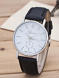 cheap -Men's Sport Watch Dress Watch Fashion Watch Wrist watch Quartz Large Dial Genuine Leather Band Charm Multi-Colored