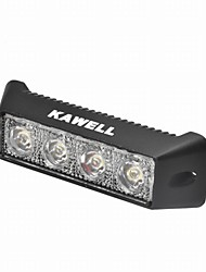"KAWELL 12W 5.5"" DC 9-32V 6000K 800LM 30 Degree LED light Waterproof Black Led Work Spot Light"