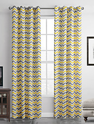 Grommet Top One Panel Curtain Modern , Stripe Living Room Polyester Material Curtains Drapes Home Decoration For Window