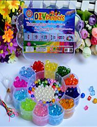 Manual Creative Beads The Latest Children's Educational Toys Diy Acrylic Plum Shape Box