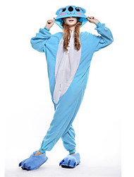Kigurumi Pajamas New Cosplay® Koala Leotard/Onesie Festival/Holiday Animal Sleepwear Halloween Blue Patchwork Polar Fleece Kigurumi For