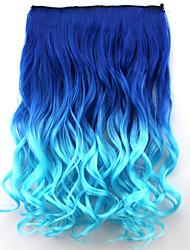 популярный новый стиль двойной цвет вьющиеся синтетические волосы продление