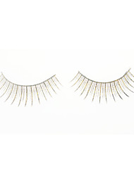 cheap -Cool Flower Golden Flash False Eyelashes (Pair) Cosmetic Beauty Care Makeup for Face
