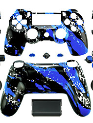 cheap -Replacement Controller Case for PS4 Controller (Blue Splash)