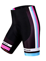 cheap -WOSAWE Cycling Padded Shorts Women's Bike Padded Shorts/Chamois Shorts Bottoms Bike Wear Quick Dry Windproof Breathable Limits Bacteria