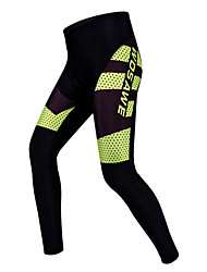 WOSAWE Cycling Tights Unisex Bike Pants / Trousers Padded Shorts/Chamois Tights Bottoms Bike Wear Quick Dry Wearable Breathable