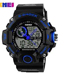 cheap -Men's Sport Watch Dress Watch Fashion Watch Digital Watch Digital Calendar / date / day Large Dial Silicone Band Vintage Casual