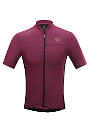 cheap -SANTIC Cycling Jersey Men's Short Sleeves Bike T-shirt Jersey Top Quick Dry Ultraviolet Resistant Breathable Limits Bacteria Polyester