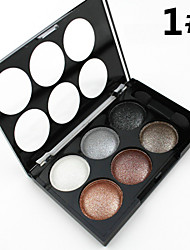6 Lidschattenpalette Trocken / Schimmer Lidschatten-Palette Puder NormalAlltag Make-up / Halloween Make-up / Party Make-up / Feen Makeup