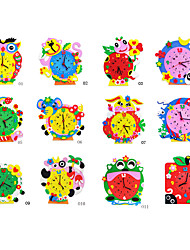 Недорогие -красочные часы 12 стиль преподавания обучения гаджеты&подарки ручной работы изделия образование Дети хобби игрушки 3d головоломка DIY