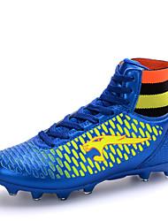 povoljno -Muškarci Dječaci Cipele Umjetna koža Proljeće Jesen Udobne cipele Nogomet Vezanje za Crna Plava Zlatna
