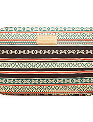"cheap -Sleeve for Macbook 12"" Macbook Air 11""/13"" Macbook Pro 13"" Bohemian Style Stripes Canvas Material New Bohemian style Shakeproof"