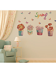 Botanical / Still Life / Florals / Landscape Wall Stickers Plane Wall Stickers,pvc 50*70CM