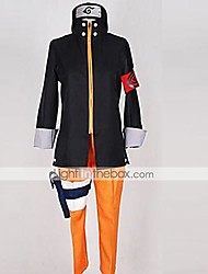 abordables -Inspirado por Naruto Naruto Uzumaki Animé Disfraces de cosplay Trajes Cosplay Retazos Top / Pantalones / Tocados Para Hombre