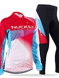 cheap -Nuckily Cycling Jersey with Tights Men's Women's Long Sleeves Bike Sleeves Clothing Suits Thermal / Warm Windproof Anatomic Design Fleece