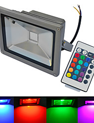 cheap -LED Floodlight 1 COB 1500-1600 lm Warm White Cold White RGB 6000-6500K/3000-3200K K Waterproof Remote-Controlled AC 85-265 V