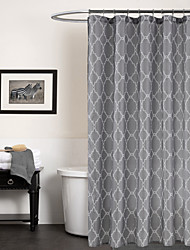 Modern Grey Geometric Shower Curtain 71x72inch,71x79inch