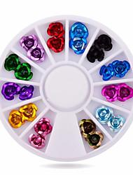 1wheel Metal Rose 3d Nail Decorations