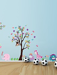 cheap -Cartoon Animal Forest Wall Stickers Decals For Nursery And Kids Room Home Decor