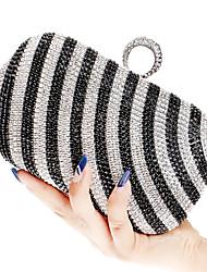 abordables -Femme Sacs Polyester Sac de soirée Cristal / strass / Bijoux acryliques pour Mariage / Soirée / Fête / Shopping Or / Noir / Arc-en-ciel