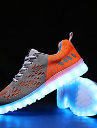 LED Light Up Shoes, Men's Shoes Athletic / Casual Tulle Fashion Sneakers Green / Red / Orange