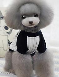 cheap -Dog Shirt / T-Shirt Dog Clothes Stripe Gray Blue Cotton Costume For Pets Men's Women's Fashion
